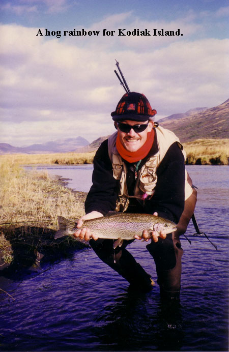 kodiak alaska rainbow trout fishing